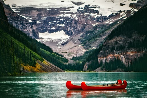 The scenic Lake Louise in Canada
