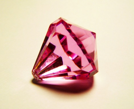 An illustration of pink-colour diamond