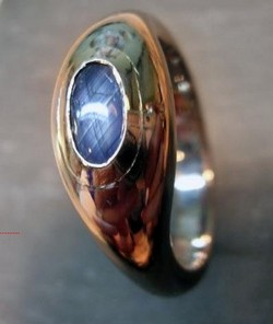 Signet ring with a stone